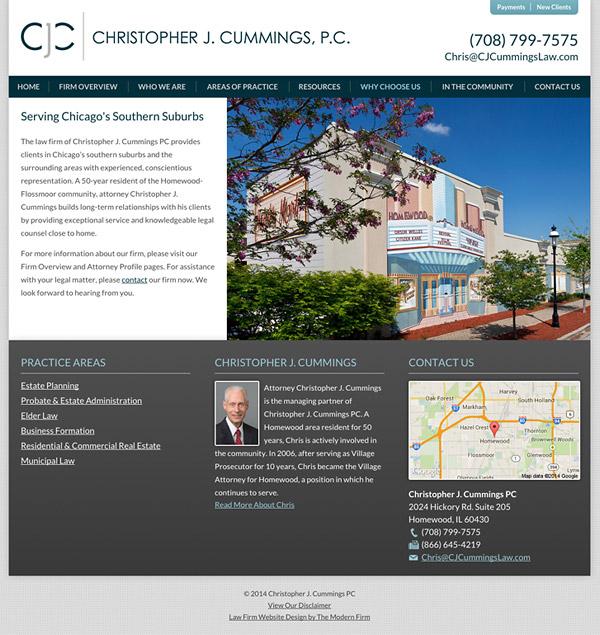 Law Firm Website Design for Christopher J. Cummings PC