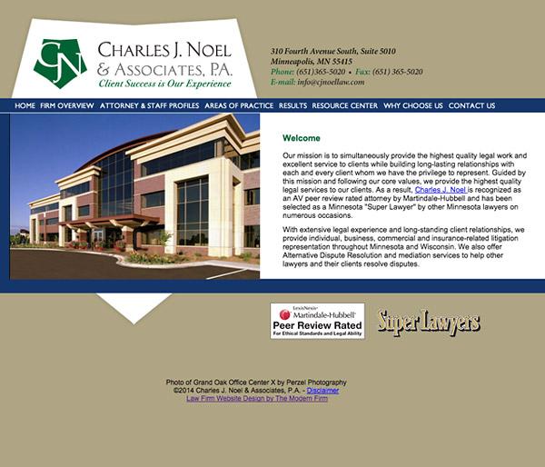 Law Firm Website Design for Charles J. Noel & Associates, P.A.