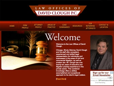 Law Firm Website design for Law Offices of David Clou…