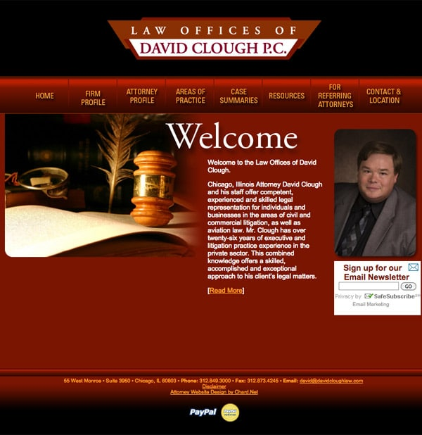 Law Firm Website Design for Law Offices of David Clough
