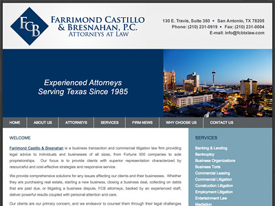 Law Firm Website design for Farrimond Castillo & Bres…