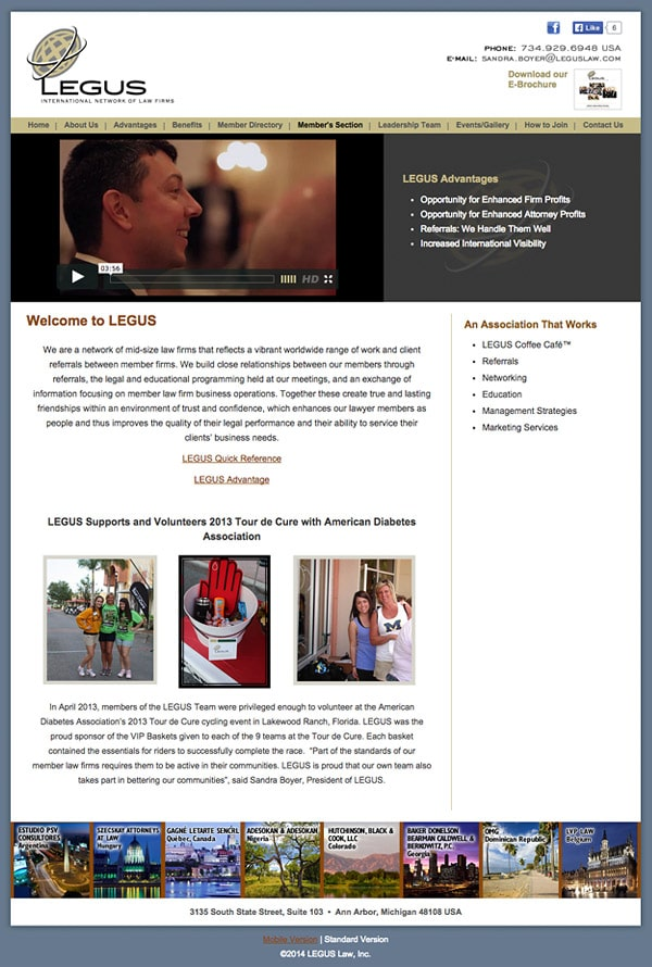 Law Firm Website Design for LEGUS