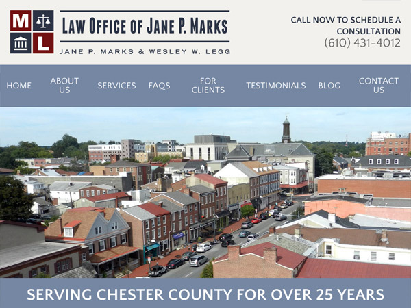 Mobile Friendly Law Firm Webiste for Law Office of Jane P. Marks