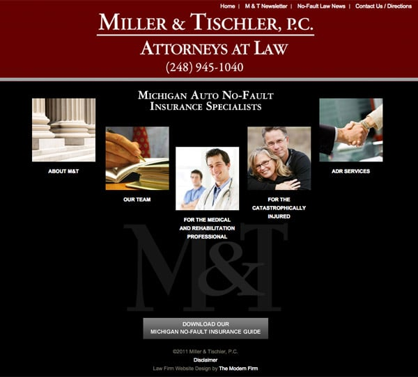 Law Firm Website Design for Miller & Tischler, P.C.