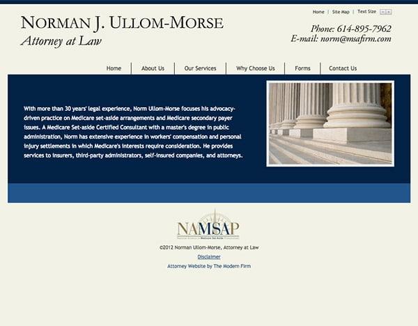 Law Firm Website Design for Norman Ullom-Morse