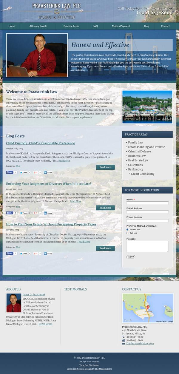 Law Firm Website Design for Praasterink Law, PLC