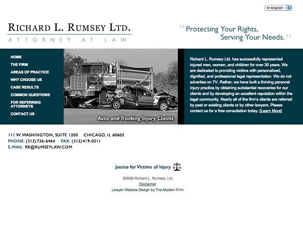 Law Firm Website Design for Richard L. Rumsey Ltd.