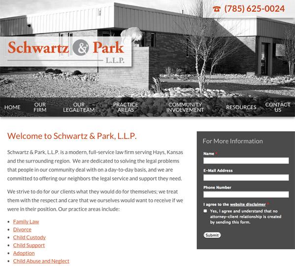 Mobile Friendly Law Firm Webiste for Schwartz & Park, L.L.P.