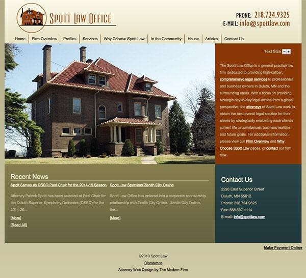 Law Firm Website Design for Spott Law