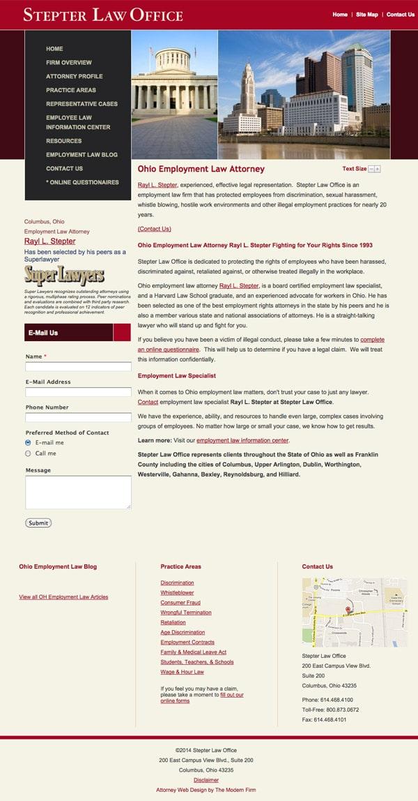 Law Firm Website Design for Stepter Law Office