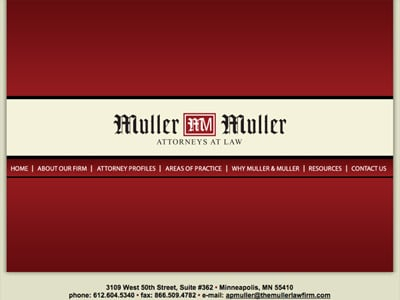 Law Firm Website design for The Muller Law Firm