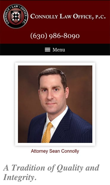 Responsive Mobile Attorney Website for Connolly Law Office P.C.