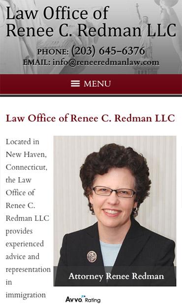 Responsive Mobile Attorney Website for Law Office of Renee C. Redman LLC