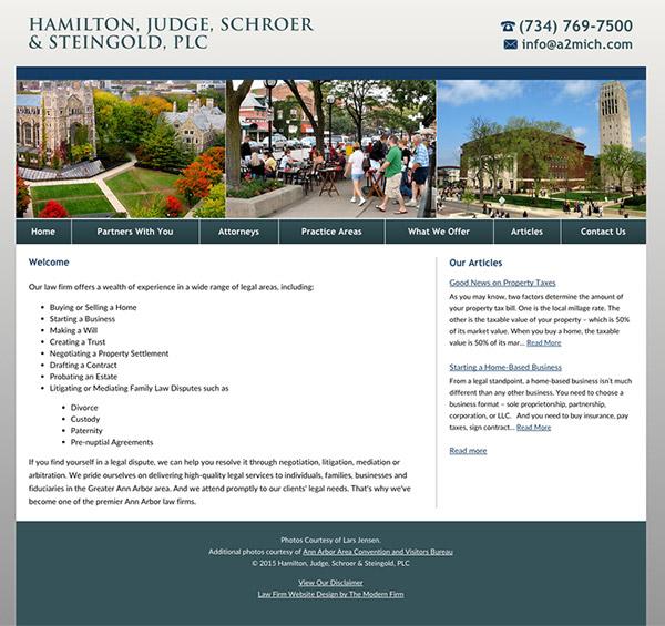 Law Firm Website Design for Hamilton, Judge, Schroer & Steingold, PLC