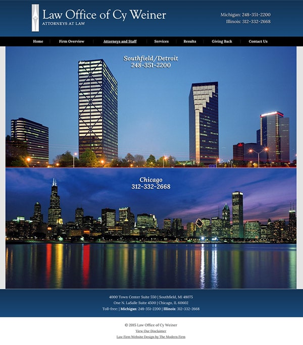 Law Firm Website Design for Law Office of Cy Weiner