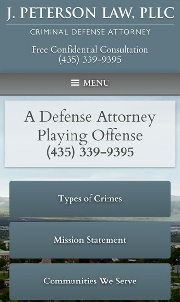 Responsive Mobile Attorney Website for J. Peterson Law, PLLC