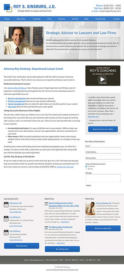 Law Firm Website Design for Roy S. Ginsburg, J.D.