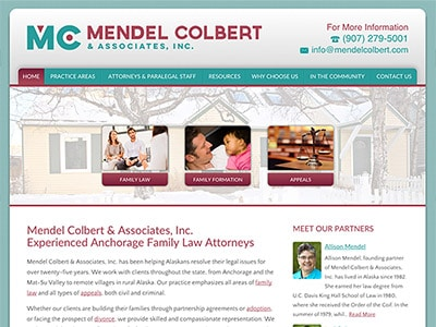 Law Firm Website design for Mendel Colbert & Associat…
