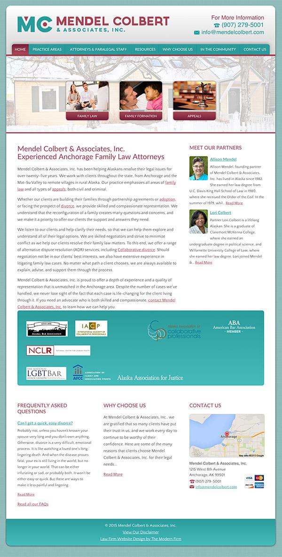 Law Firm Website Design for Mendel Colbert & Associates, Inc.