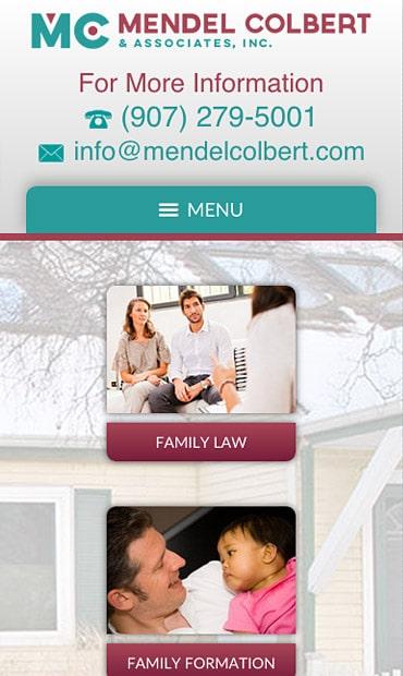 Responsive Mobile Attorney Website for Mendel Colbert & Associates, Inc.