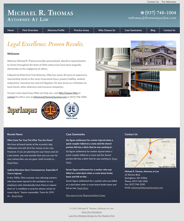 Law Firm Website Design for Michael R. Thomas, Attorney at Law