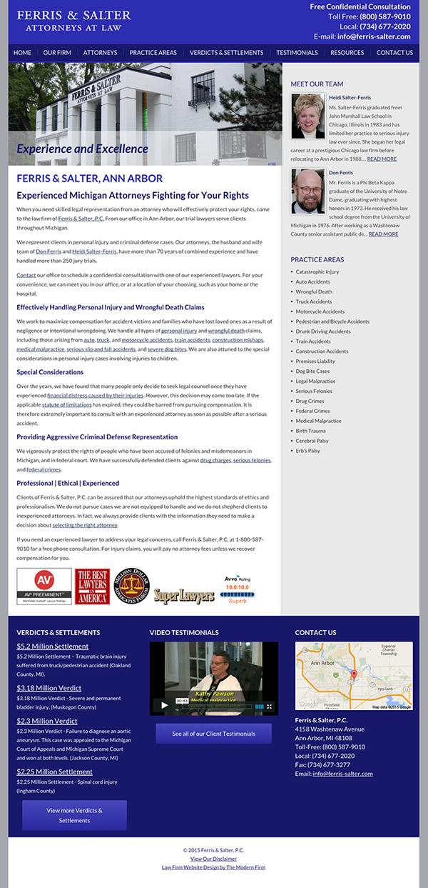 Law Firm Website Design for Ferris & Salter, P.C.