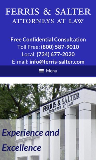 Responsive Mobile Attorney Website for Ferris & Salter, P.C.