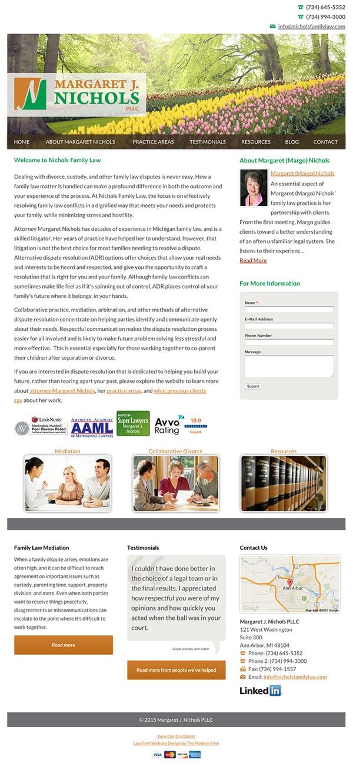 Law Firm Website Design for Margaret J. Nichols PLLC