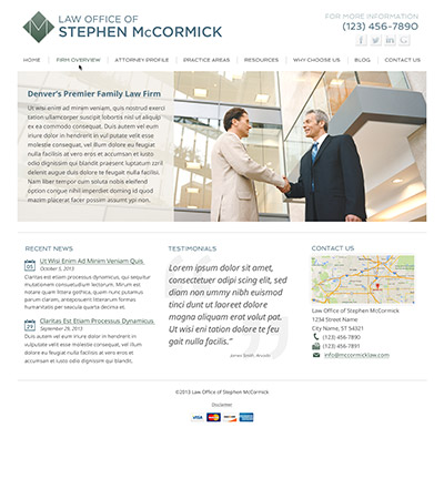 Law firm wbsite design concept Layout #90