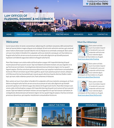 Law firm wbsite design concept Layout #94