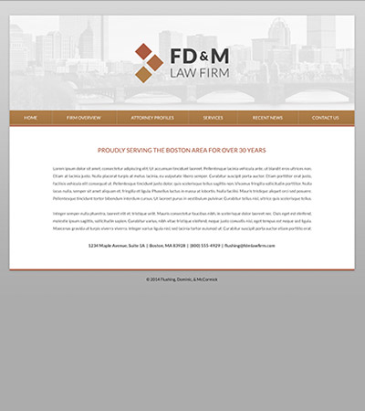 Law firm wbsite design concept Layout #95