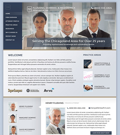 Law firm wbsite design concept Layout #96