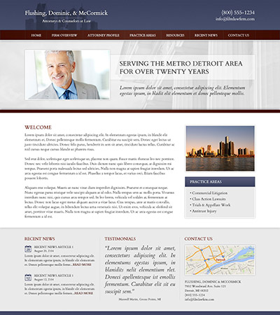 Law firm wbsite design concept Layout #98