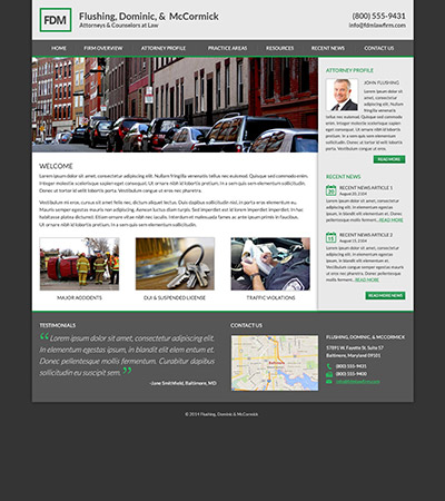 Law firm wbsite design concept Layout #99