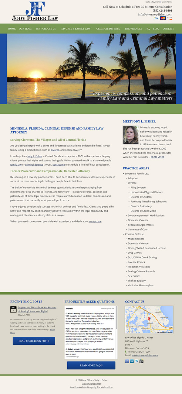 Law Firm Website Design for Law Office of Jody L. Fisher