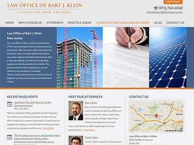 Law Firm Website design for Law Office of Bart J. Kle…