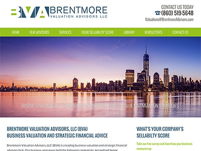 Law Firm Website design for Brentmore Advisors