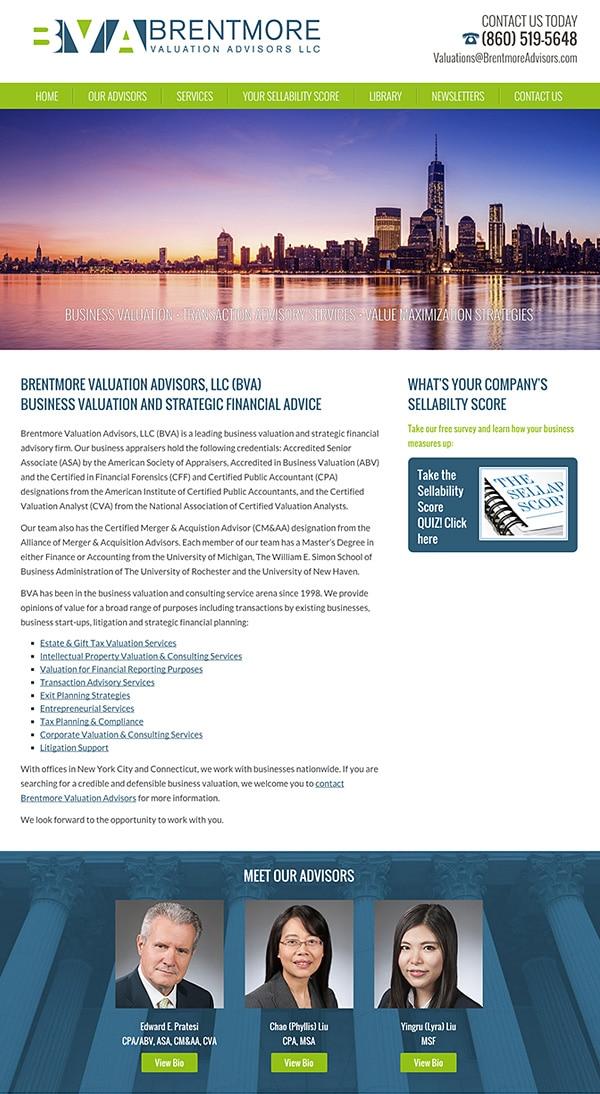 Law Firm Website Design for Brentmore Advisors
