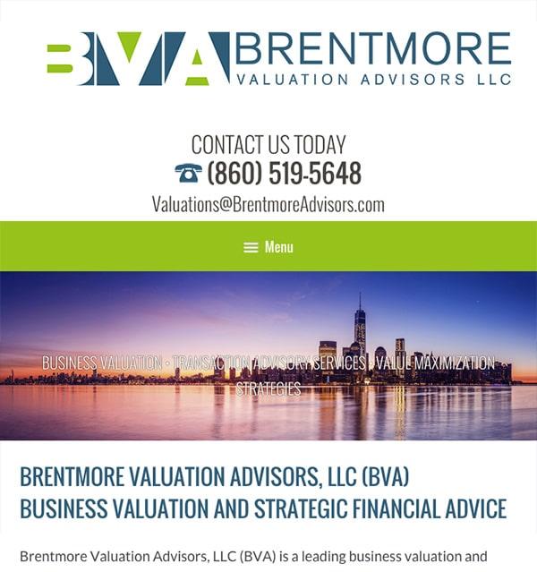 Mobile Friendly Law Firm Webiste for Brentmore Advisors