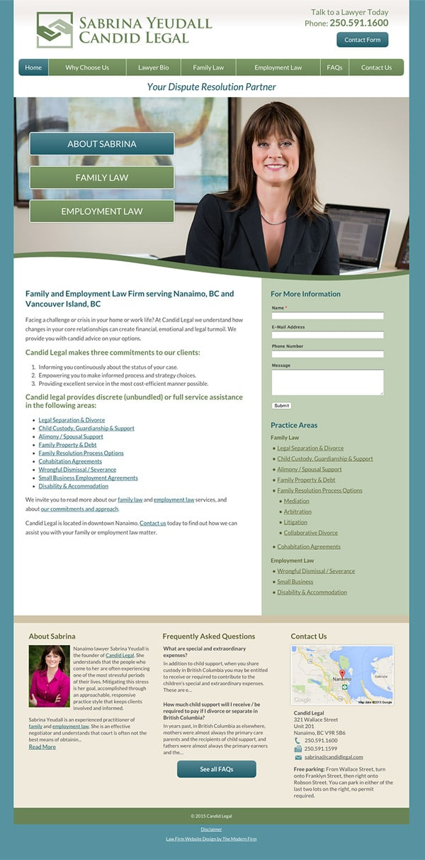 Law Firm Website Design for Candid Legal