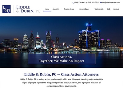 Law Firm Website design for Liddle & Dubin, P.C.