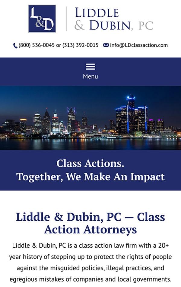 Mobile Friendly Law Firm Webiste for Liddle & Dubin, P.C.