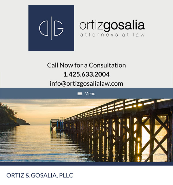Mobile Friendly Law Firm Webiste for Ortiz & Gosalia, PLLC