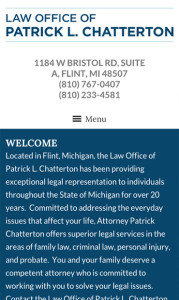 Flint Michigan Attorney Mobile Website Design