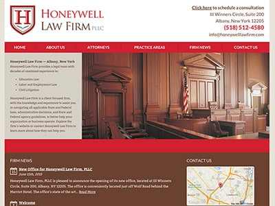 Law Firm Website design for Honeywell Law Firm PLLC