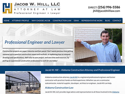 Law Firm Website design for Jacob W. Hill, LLC