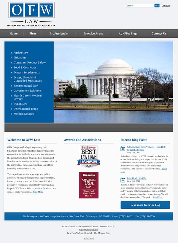 Law Firm Website Design for Olsson Frank Weeda Terman Matz PC