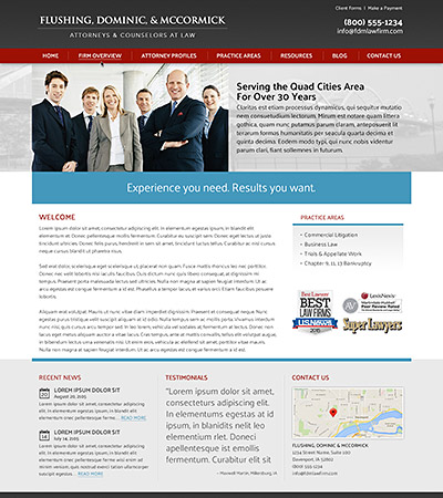 Law firm wbsite design concept Layout #101