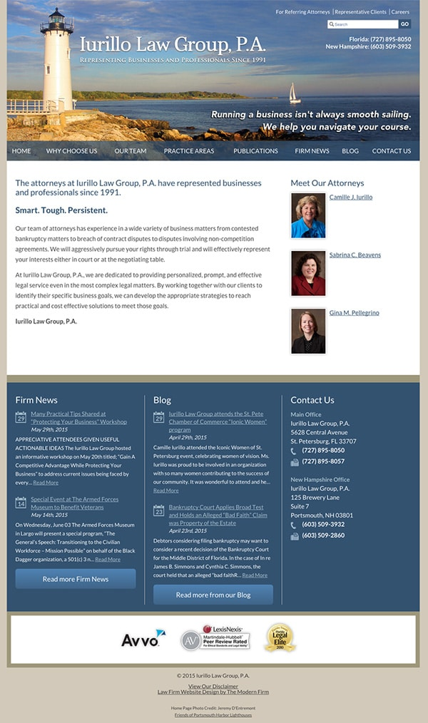 Law Firm Website Design for Iurillo Law Group, P.A.