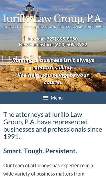 Responsive Mobile Attorney Website for Iurillo Law Group, P.A.